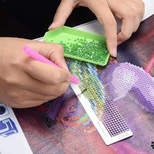 Diamond Painting Point Drill Steel Ruler Marking Tool Net Ruler Hand Diamond Embroidery Stainless Steel Ruler momoart diamond painting animal cock diamond mosaic full drill square rhinestone diamond embroidery stickers home decor