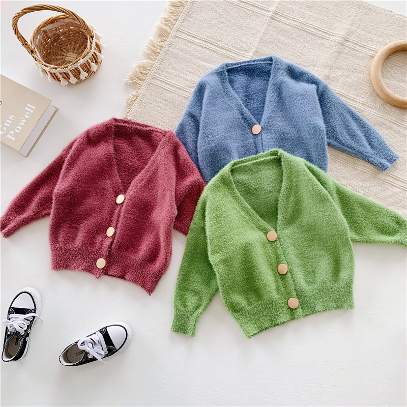 Kids Jacket Coat Spring Long-Sleeve Girls Baby Autumn Green Outerwear Boys Blue Thick