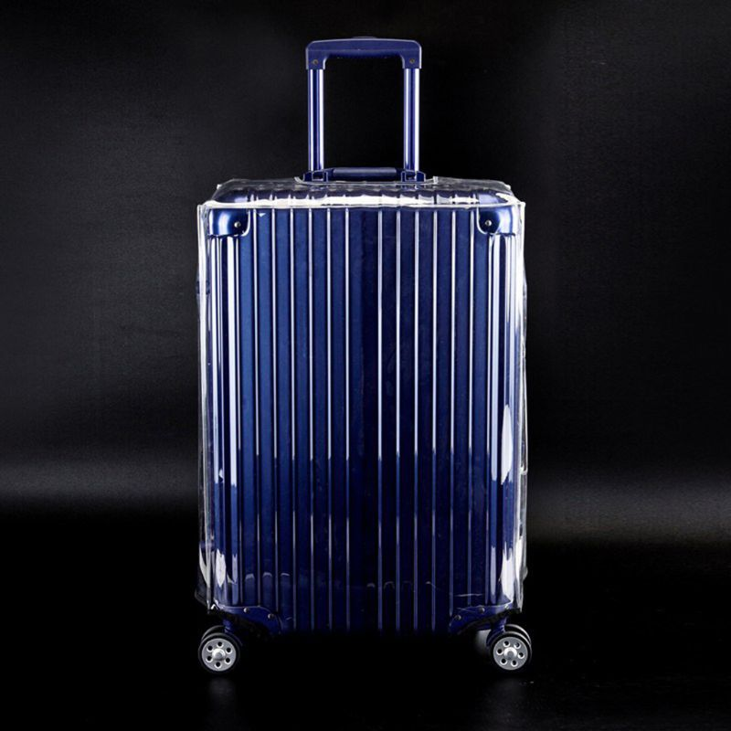 Clear PVC Suitcase Cover Protectors 20 22 24 26 28 30in For Wheeled Luggage Case  F42A