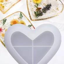 Dangling Heart Mold Circle Mold Heart Mold Circle Heart Mold Mold Heart Mold Heart Inside a Circle Mold Resin Mold Silicone Mold