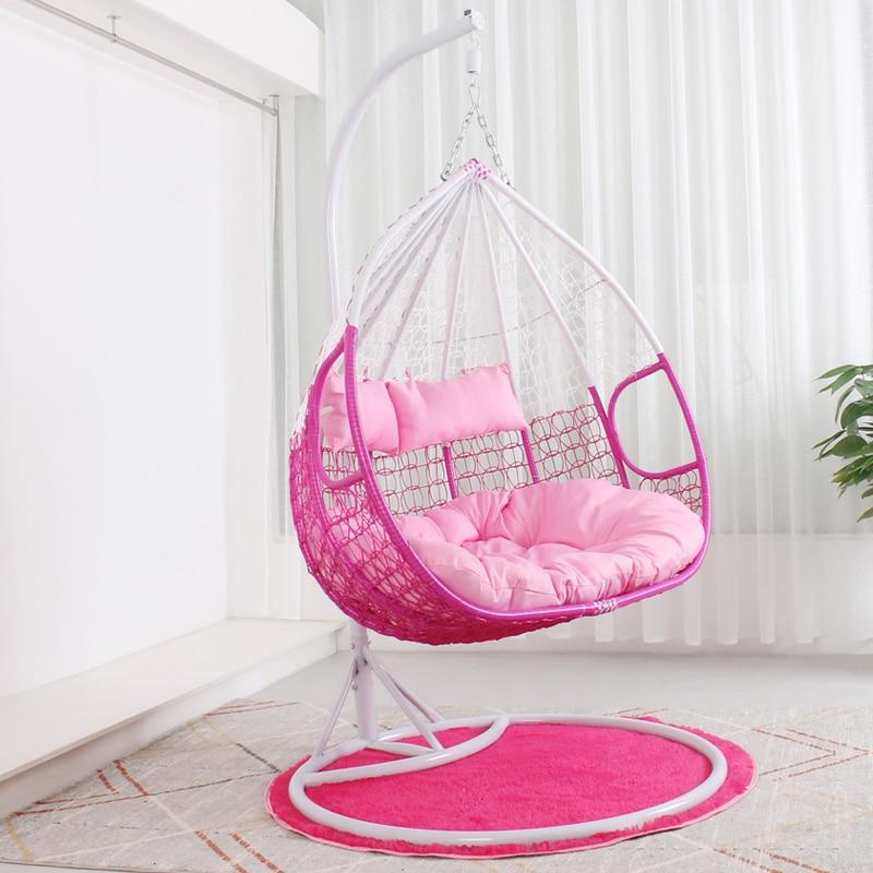 Hanging Chair Hanging Basket Rattan Chair Swing Indoor Balcony Single Lazy Bird's Nest