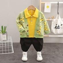 Осень зима 2020 комплект одежды для маленьких мальчиков теплое