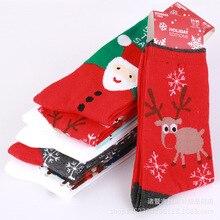 2019 New Kawaii Unisex Women Socks Christmas Little Deer Snow Flakes Cute Happy Red Warm
