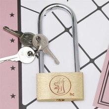 New Brass Padlock Long Shackle Travel Luggage/Suitcase/Gate Lock Security 3 Keys Durable Warehouse Gate Storage Lockers Padlocks