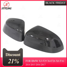 For BMW X5 F15 Carbon Fiber  Mirror Cover Full add on  style  2014 2015 carbon fiber wing mirror cover for bmw e82 e87 2007 2008 add on style