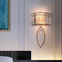Lâmpada Moderna de parede levou para o corredor escada luxo cristal arandela corredor sala estar iluminação interior decoração par