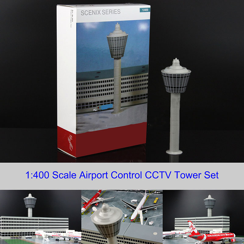 1:400 Airport Passenger Airport Control CCTV Tower Set Model For Airbus Boeing Airport Model Aircraft Plane Scene Display Toy