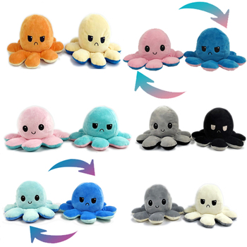 Colors Cute Soft Plush Doll Octopus Doll Double-sided Flip Octopus Plush Toy Doll Marine Life Toys Baby Toys Christmas Gifts premium new 1pc cute marine life octopus baby plush toy doll octopus multicolor optional dolls