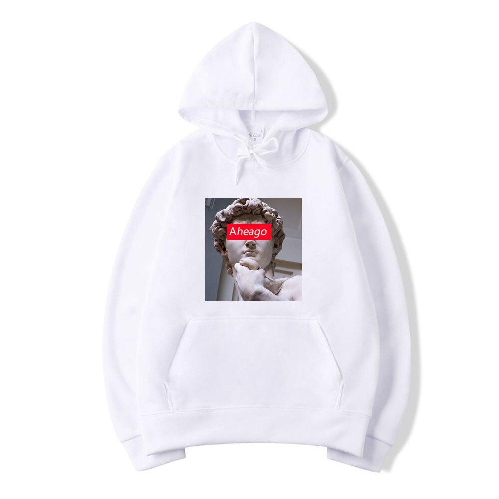 Male's Hoodies David Michelangelo Unisex Hoodie Funny Ahegao Printed Hip Hop Fun Harajuku Hoodie Streetwear Men Sweatshirt Coat