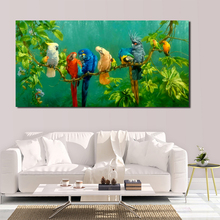 Painting canvas painting wall art picture colorful parrot animal print living room modern decorative poster