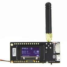 LILYGO®Ttgo ESP32-Paxcounter lora32 v2.1 1.6 versão 433/868/915mhz lora ESP-32 oled 0.96 Polegada sd cartão bluetooth módulo wi-fi