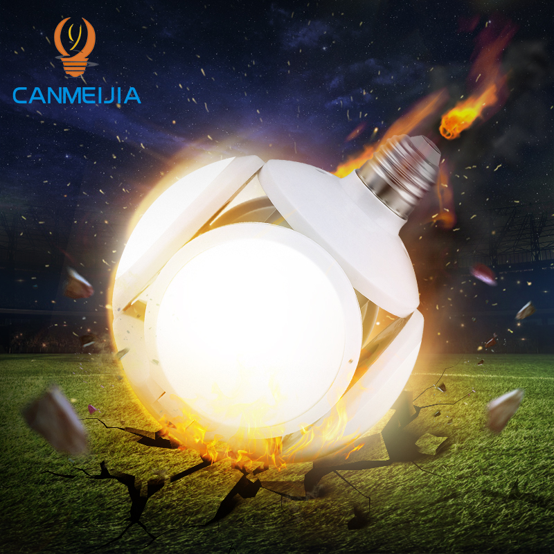Deformable LED Bulb E27 220V 40W Super Bright Football Led Lamp Garage Lights For Home Lighting Bedroom Workshop Warehouse