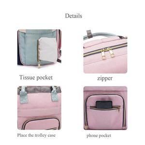 Image 4 - Рюкзак для мам LEQUEEN, модная Вместительная дорожная сумка для подгузников, дизайнерский, для ухода за детьми