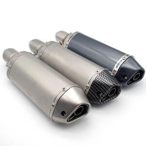 Moto Exhaust For ak 550 ktm 990 mt 09 gsxr 600 spirit beast r nine t For cbr z800 xmax 300 xadv benelli leoncino bmw s1000xr