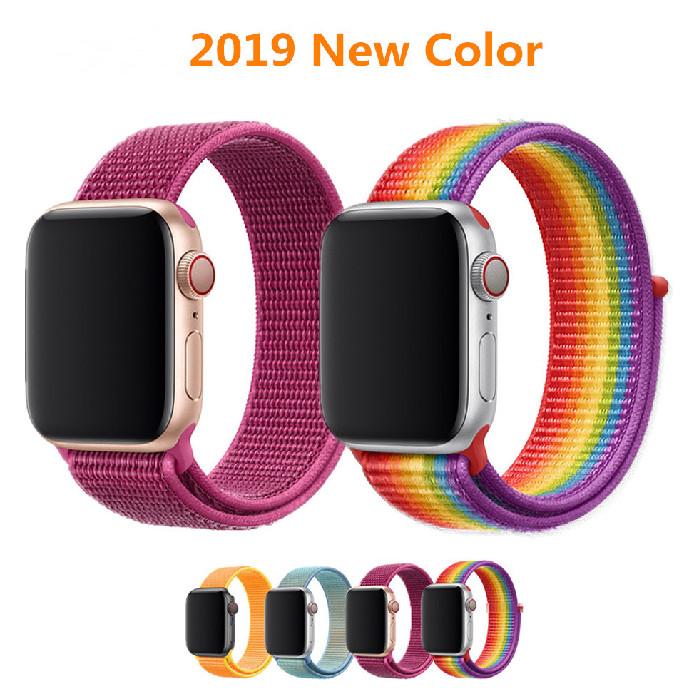 Nylon Strap For Apple Watch Iphone Watch Bracelet Serie 4 3 2 1 Smart Watch Band 4 For Women 44mm 42mm 40 38 I Watch Accessries