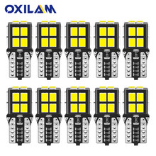 OXILAM 10Pcs W5W LED Bulb T10 194 168 Lamp Canbus No Error LED Lights for Nissan Toyota Lexus Volvo Car Interior Light 6000K 12V