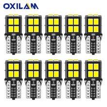 OXILAM 10Pcs W5W LED Bulb T10 194 168 Lamp Canbus No Error LED Lights for Nissan Toyota Lexus Volvo Car Interior Light 6000K 12V
