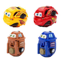 1Pcs Mini Cars transformation egg truck racing car model for children toys Polices car Transportation car Model Kid's Gifts(China)
