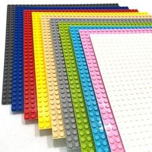 Large Size Duploed Baseplate Big Base Building Blocks 32*32 Dots 25*25.5cm compatible duploed animals Toys For Childern