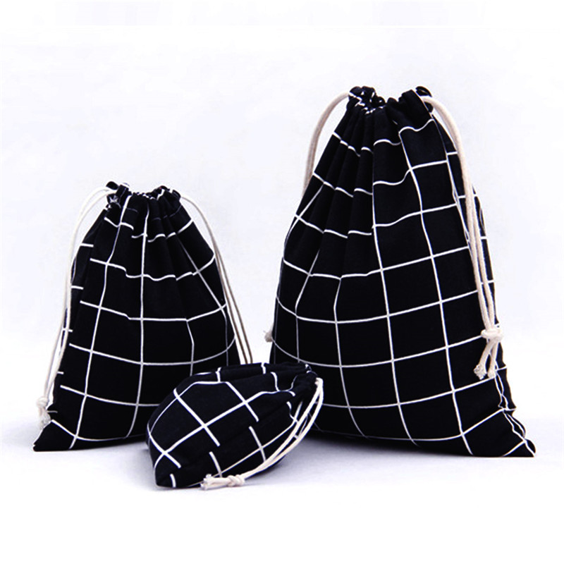 Vogvigo Cotton Storage Bags Portable Drawstring Storage Bag Shoe Holder Laundry Lingerie Drawstring Backpack Draw String Bags