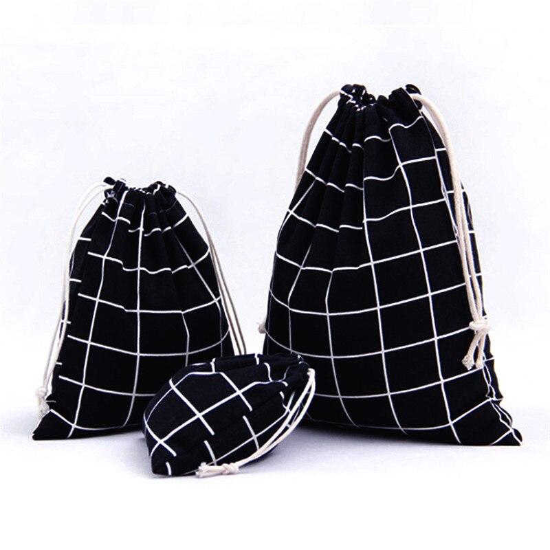 Vogvigo Cotton Storage Bags Portable Drawstring Storage Bag Shoe Holder Laundry Lingerie Drawstring Backpack Draw String Bags