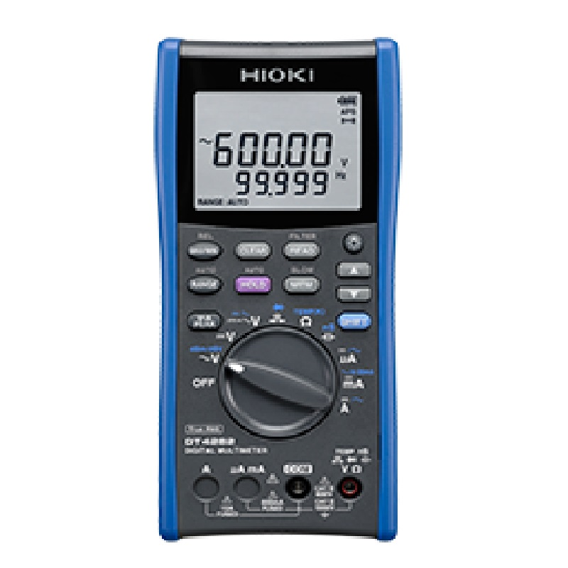 HIOKI DT4282 Digital Multimeters Handheld Testers 60000 Count AC/DC 1000V, 10A, 600MOhm with Safety Terminal Shutters