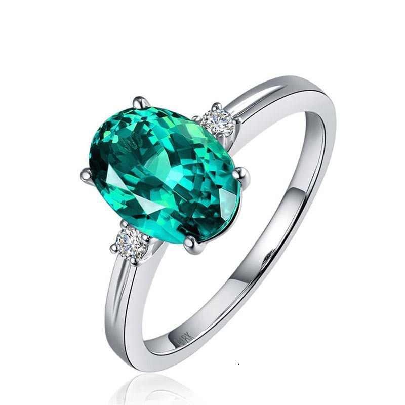 JoiasHome klassische Sapphire Silber 925 Ring mit oval grün/rosa/blau edelstein einstellen größe luxus silber schmuck geschenk für frau