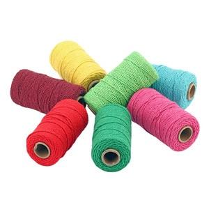 Нить из хлопка и льна, многоцветная витая пряжа для Ловца снов, домашний декор, ремесла, макраме, вязаная крючком нить, Hilo Para Vestido