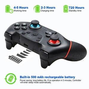 Image 4 - Беспроводной Bluetooth геймпад Для Nintendo переключатель Pro НС переключатель Pro игровой джойстик игровой контроллер для коммутатора консоли с 6 осевым ручка