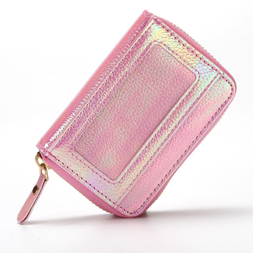 Cuikca Creative Shinny Ladies Credit Card Holder RFID Laser Sequin Holographic Woman Wallet