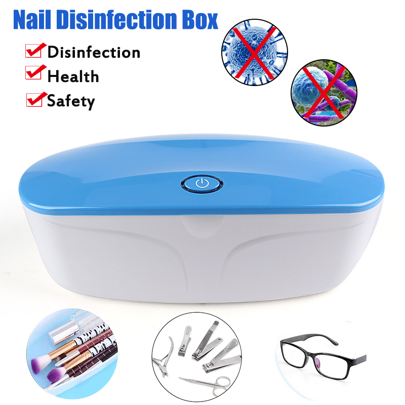 5V UV Light Phone Sterilizer Box Manicure Instruments Disinfection Jewelry Cleaner Nail Tools Disinfection Cabinet Esterilizador