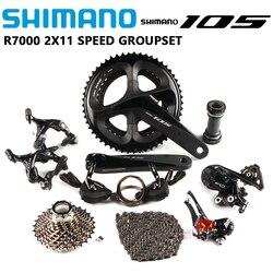 SHIMANO 105 R7000 RS700 2x11 скорость 165/170/172.5/175 мм 50-34 Т 52-36 т 53-39 т дорожный велосипед набор Groupset обновление с 5800