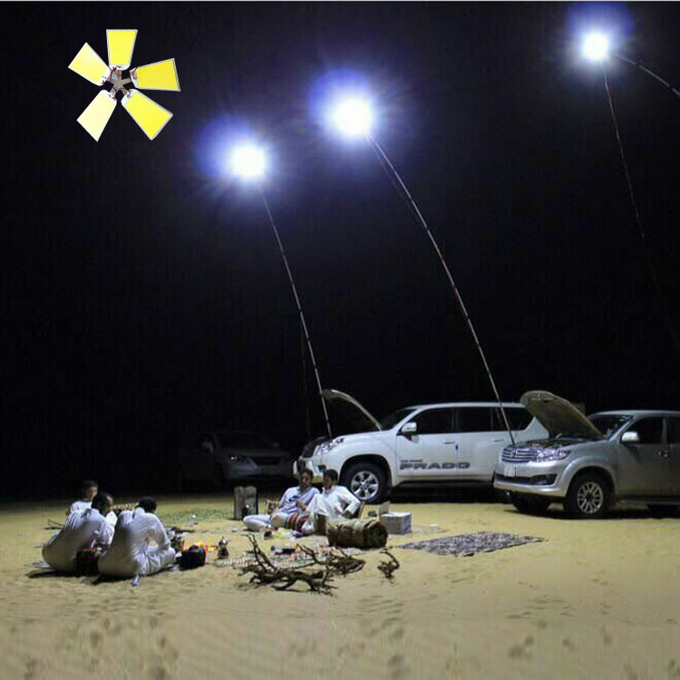 224pcs LEDs Boards X 4 COB 12V LED Telescopic Fishing Rod Outdoor Lantern Camping Light 5 Meters Fishing Rod Road Trip