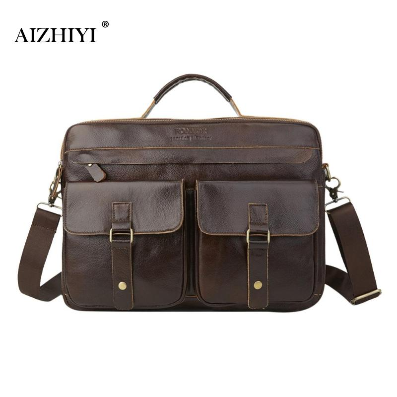 Leather Briefcase Mens Genuine Leather Handbags Crossbody Bags Men's High Quality Luxury Business Messenger Bags Handbags