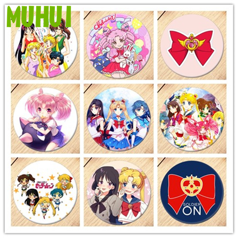 1pc Anime Sailor Moon Brooch Pin Breastpin Badge Accessories For Clothes Backpack Decoration 19380