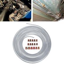 25 50 ft cewka rolkowa 3 16 #8222 OD miedziany nikiel przewód hamulcowy zestaw przewodów rurowych srebrny antykorozyjny uniwersalny do użytku domowego tanie tanio 3 16 in O D (note 3 16 no=1 4 ) 0 28 in 25 ft Coils(25ft=300inch=7 62M) 50 ft Coils
