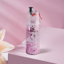 2020 New Water Cup Double Layer Glitter Spray Cup 350ML Sports Drinking Cup Safety Barrier Portable Quench Thirst Water Bottle quench