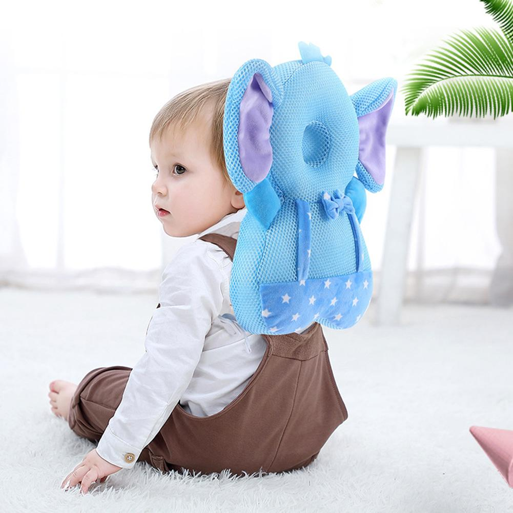 Soft Breathable Baby Head Support Pillow Cute Cartoon Drop Resistance Soft Crystal Velvet Filled With PP Cotton Cushion