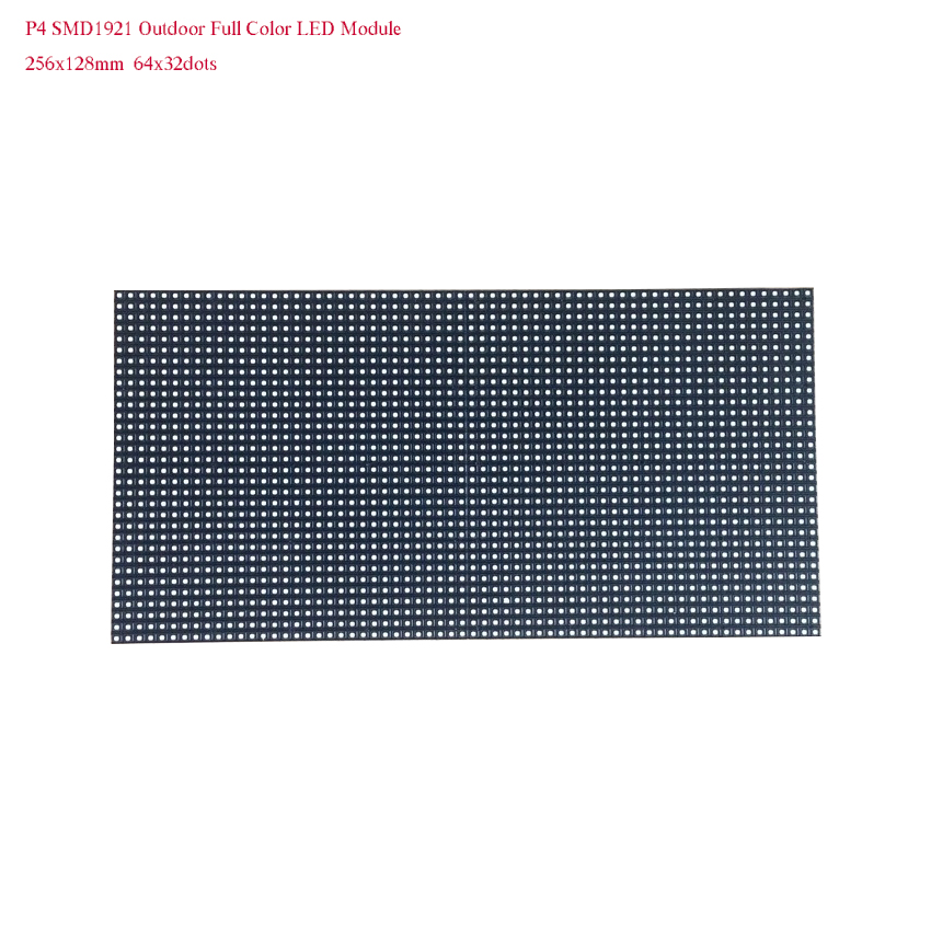 P4 Outdoor Waterproof 64x32dots 256*128mm Full Color Led Module For Advertising Billboard Screen