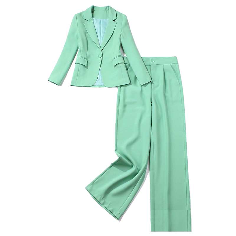 Professional Women's Suits Pants Suit High Quality Casual Lady Slim Jacket Small Suit Female Office Wide Leg Pants Two-piece Set