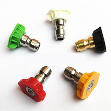 "5pcs/lot 1/4"" High Pressure Washer Spray Nozzle Quick Connector Car Washing Nozzles Metal Jet Lance Nozzle"