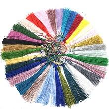 32 unidades/pacote cor misturada 7cm pendurado corda borlas de seda franja costura bang borla guarnição chave borlas para diy embellish cortina acesso