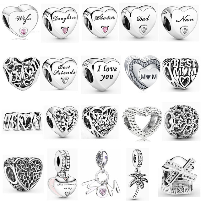 2019 new free shipping mom wife daughter dad sister nan best friends tree bead fit Original Pandora charms silver 925 bracelet