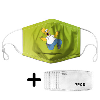 Women Men Children Facial Cover Masks Outdoor PM2.5 Pollution Dust-proof Mouth Mask Filters Simpson Print Cartoon Unisex Masks woodyknows super defense nasal filters 2nd generation nose masks pollen allergies dust allergy relief no pm2 5 air pollution