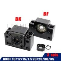 3SetS BK 10BF 10 BK12 BF12 BK15 BF15 und einem pc BF12 für RM1204 SFU1605 sfu2005 Ball Schraube Ende unterstützung für CNC teile