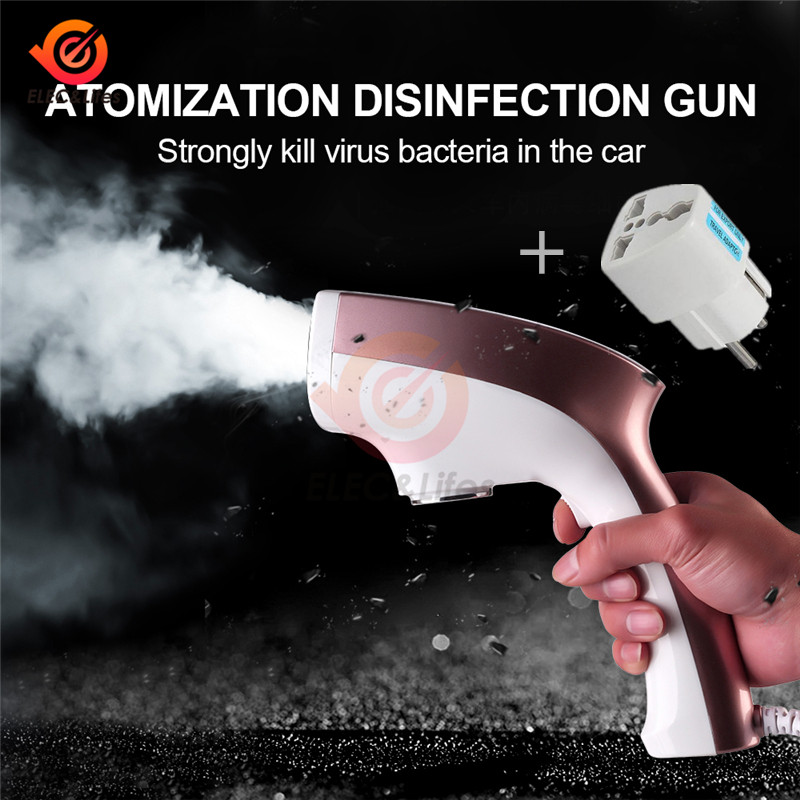 250ml 1200W 220V Photocatalyst Nano Atomization Disinfection Gun Sprayer Atomized Smoke Sterilization Gun For Home Garden Car