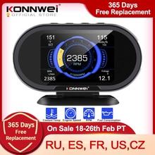 KONNWEI KW206 OBD2 On Boardคอมพิวเตอร์รถยนต์คอมพิวเตอร์ดิจิตอลจอแสดงผลOBD 2เครื่องสแกนเนอร์การใช้เชื้อเพลิงน้ำ