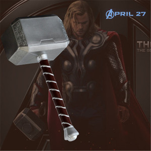 Thor Thunder Hammer Cosplay 1:1 Thor's Hammer Prop Weapon Model Halloween Gift Role Playing Game Safety PU Material Prop 44cm