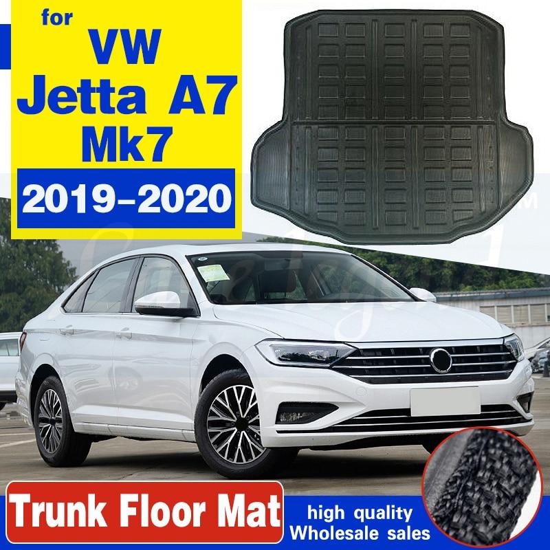 Коврик для Volkswagen VW Jetta A7 Mk7 2019 ~ 2020, коврик для багажника, подкладка для груза, напольный лоток, коврик для грязи, защитные аксессуары