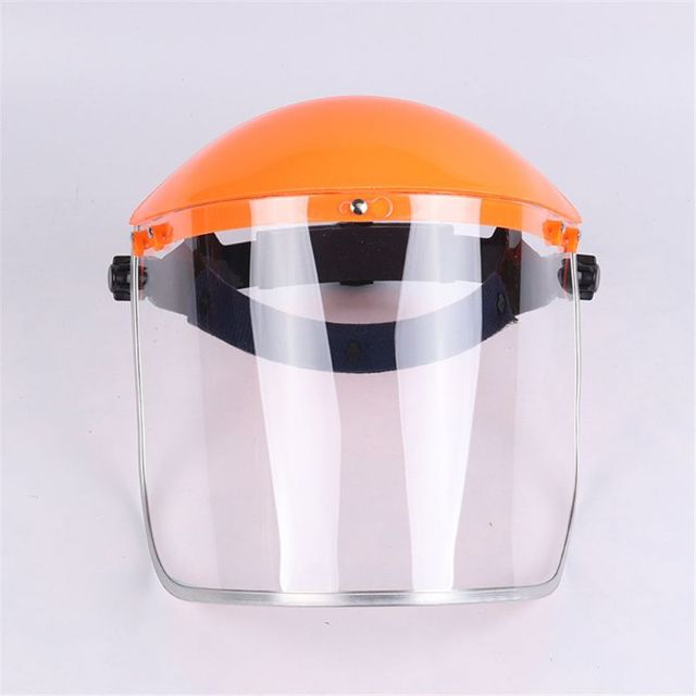 Anti-Saliva Dustproof MaskTransparent PVC Safety Faces Shields Screen Spare Visors Head Face Respiratory tract Protectio 2